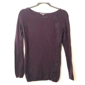 Armani Exchange- faux leather sweater
